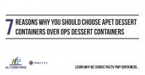 7 Reasons Why You Should Choose APET Dessert Containers Over OPS Dessert Containers
